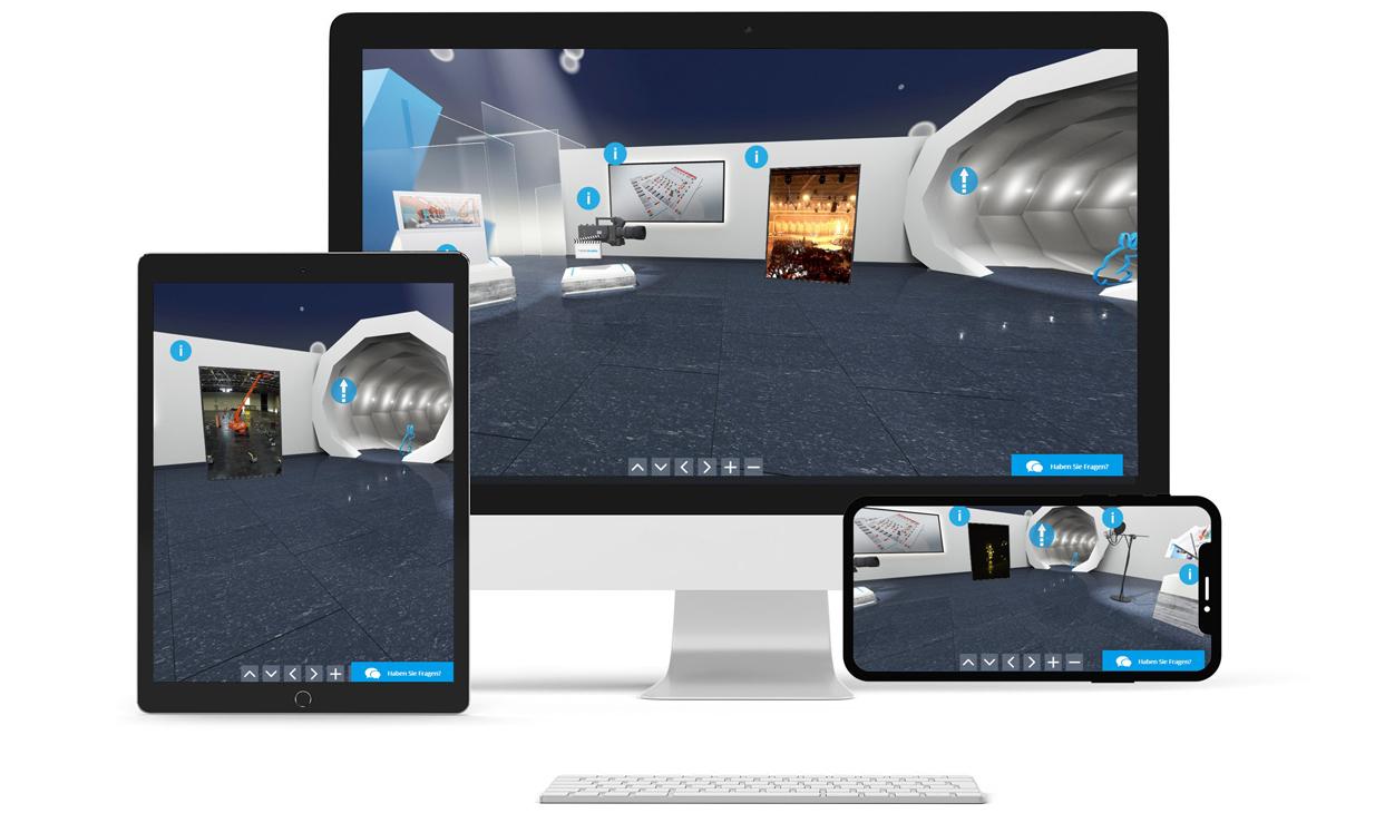 Virtuelle Messestände von markenstudios funktionieren auf vielen Geräten